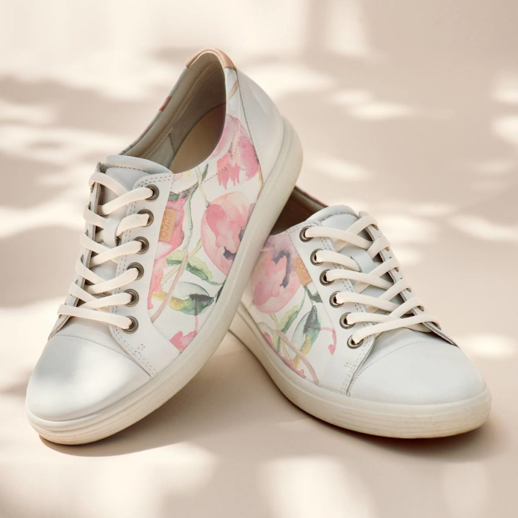 Vårskor - Ecco Soft 7 Ladies White Floral print/white/powder