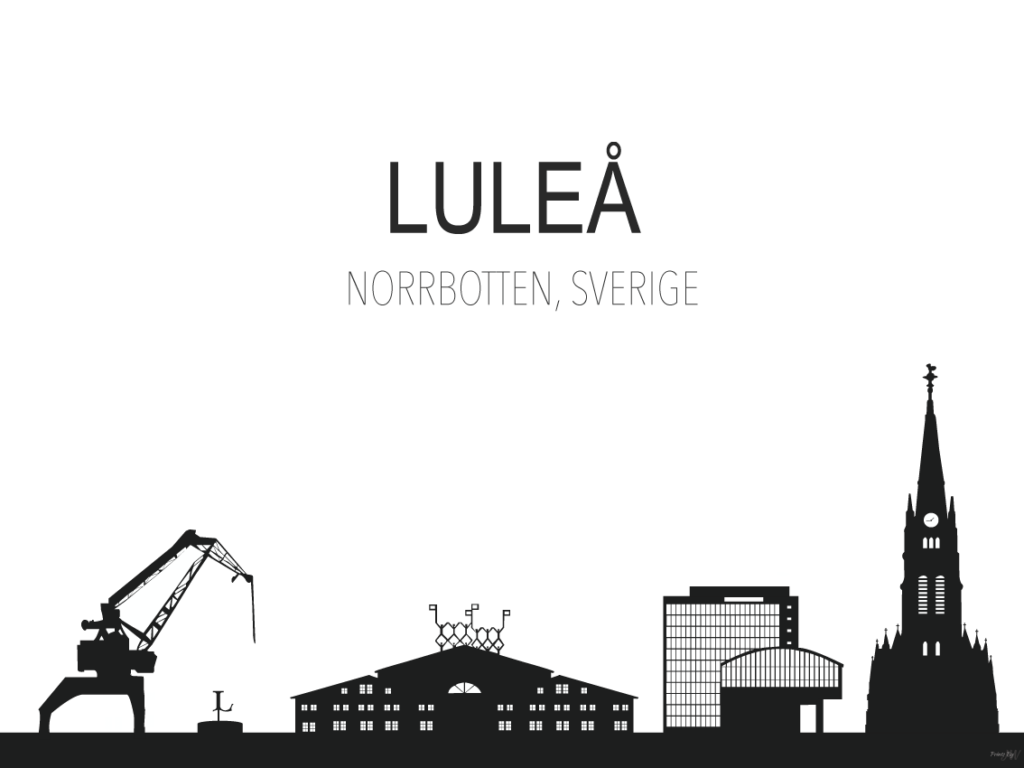 Norrländska motiv - Luleå. Design: Printsbyjw