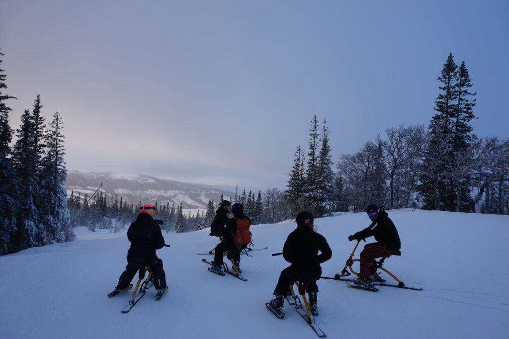 Snowbike - bloggänget påväg ned