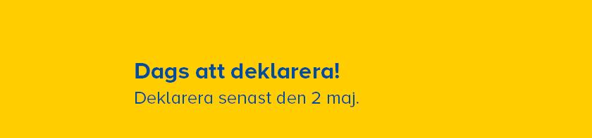 Dags att deklarera - senast 2 maj