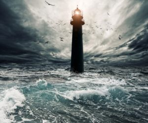 Fyr i storm
