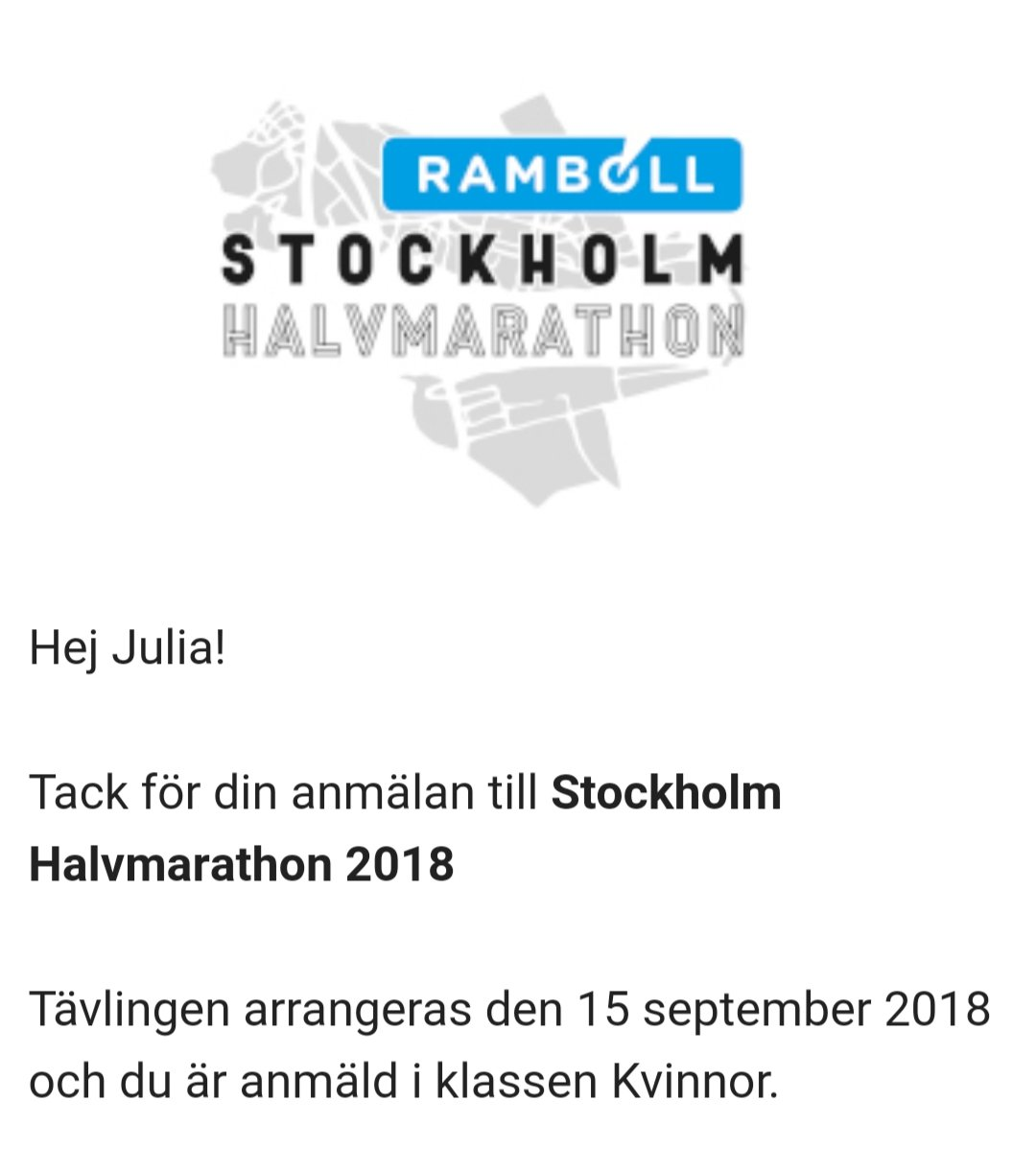 Anmälan till Stockholm halvmarathon