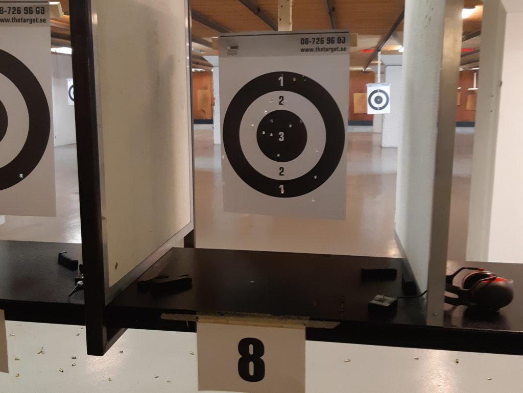 Pistolskytte - tavlan