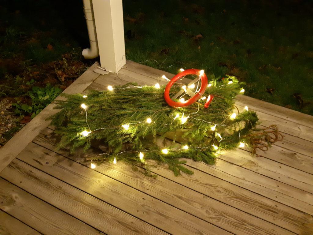 Årets ljuskreation utanför dörren