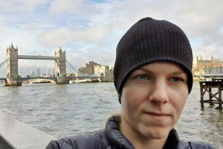 London till fots
