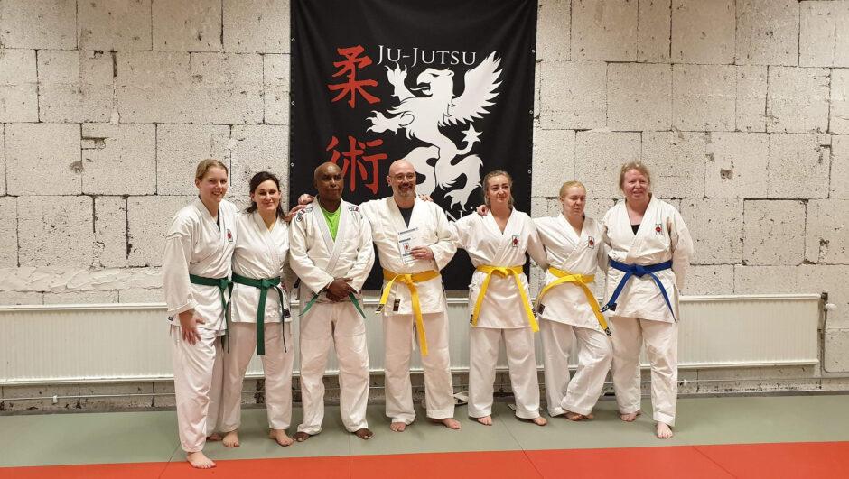 grönt bälte i jujutsu gradering